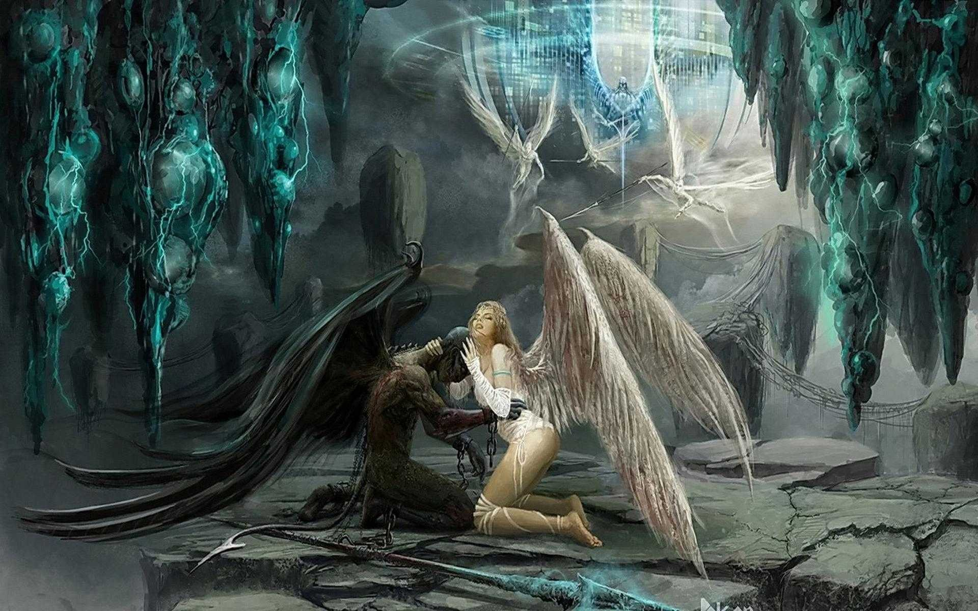 Dark Angel Wallpaper Fallen Angel And Angel 142295 Hd