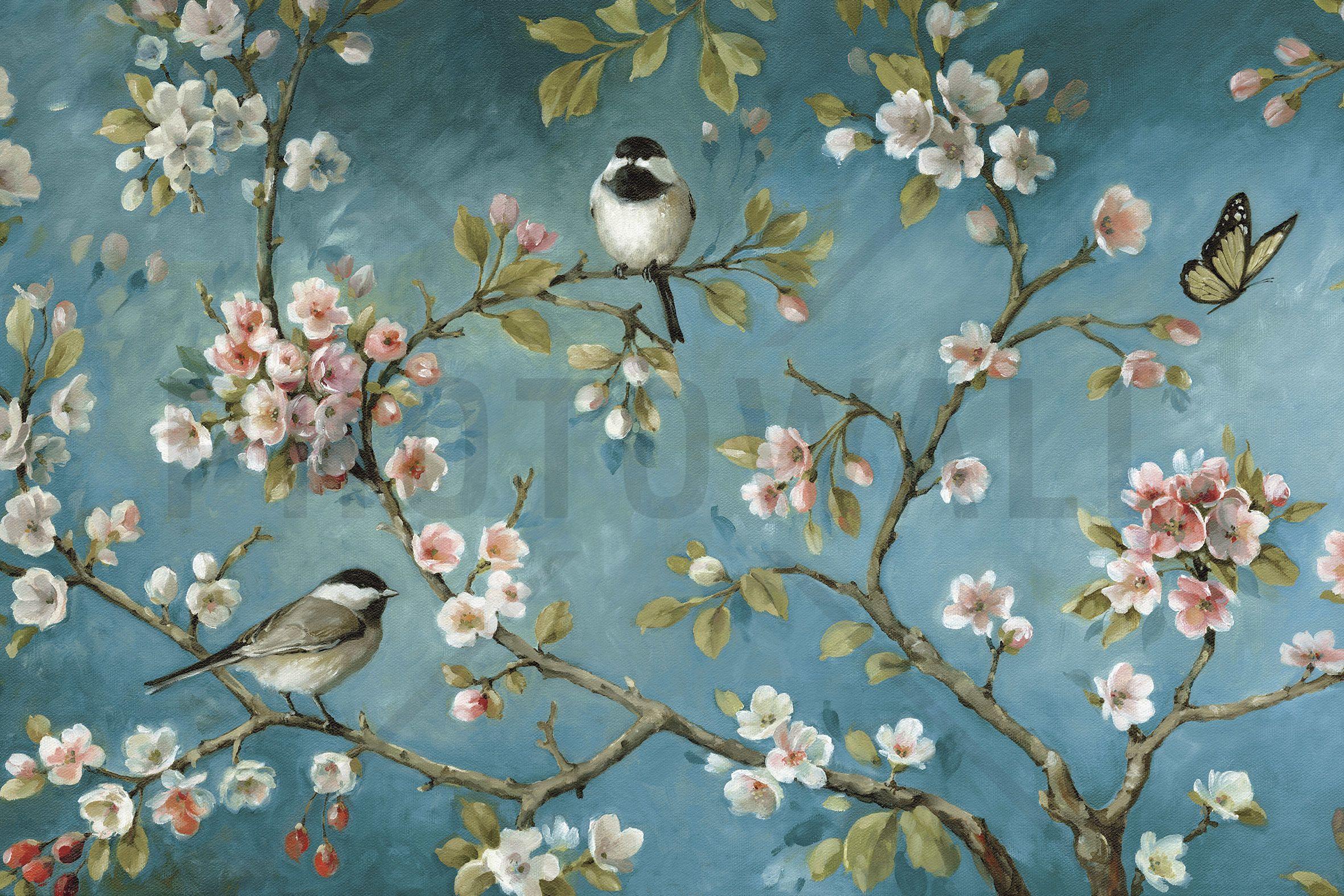 Wall Mural & Photo Wallpaper - Vintage Bird , HD Wallpaper & Backgrounds