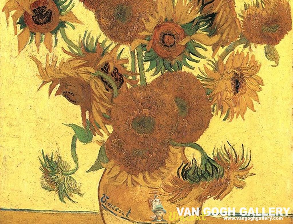 Vincent Van Gogh - Vincent Van Gogh Sunflowers , HD Wallpaper & Backgrounds