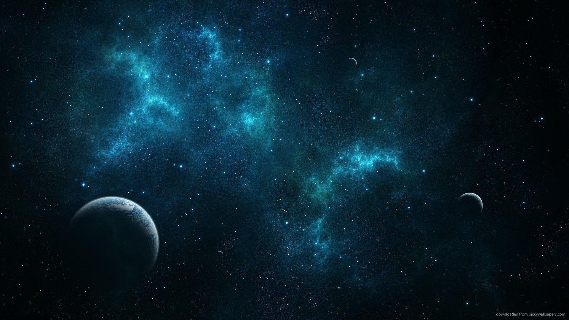 Hd Deep Blue Space Wallpaper High Resolution Space Blue