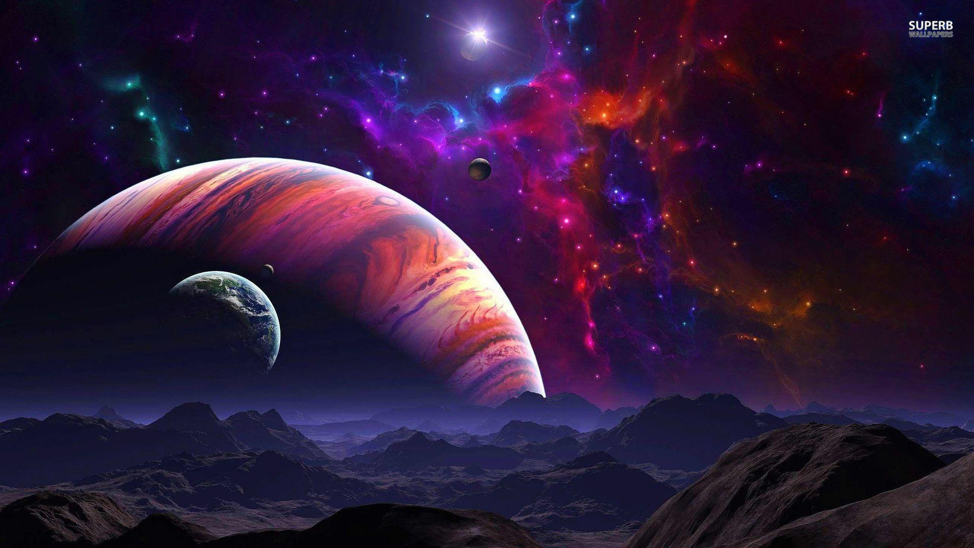 Purple Space Wallpaper 1920x1080 Pictures 5 Hd Wallpapers - Hd Planets , HD Wallpaper & Backgrounds