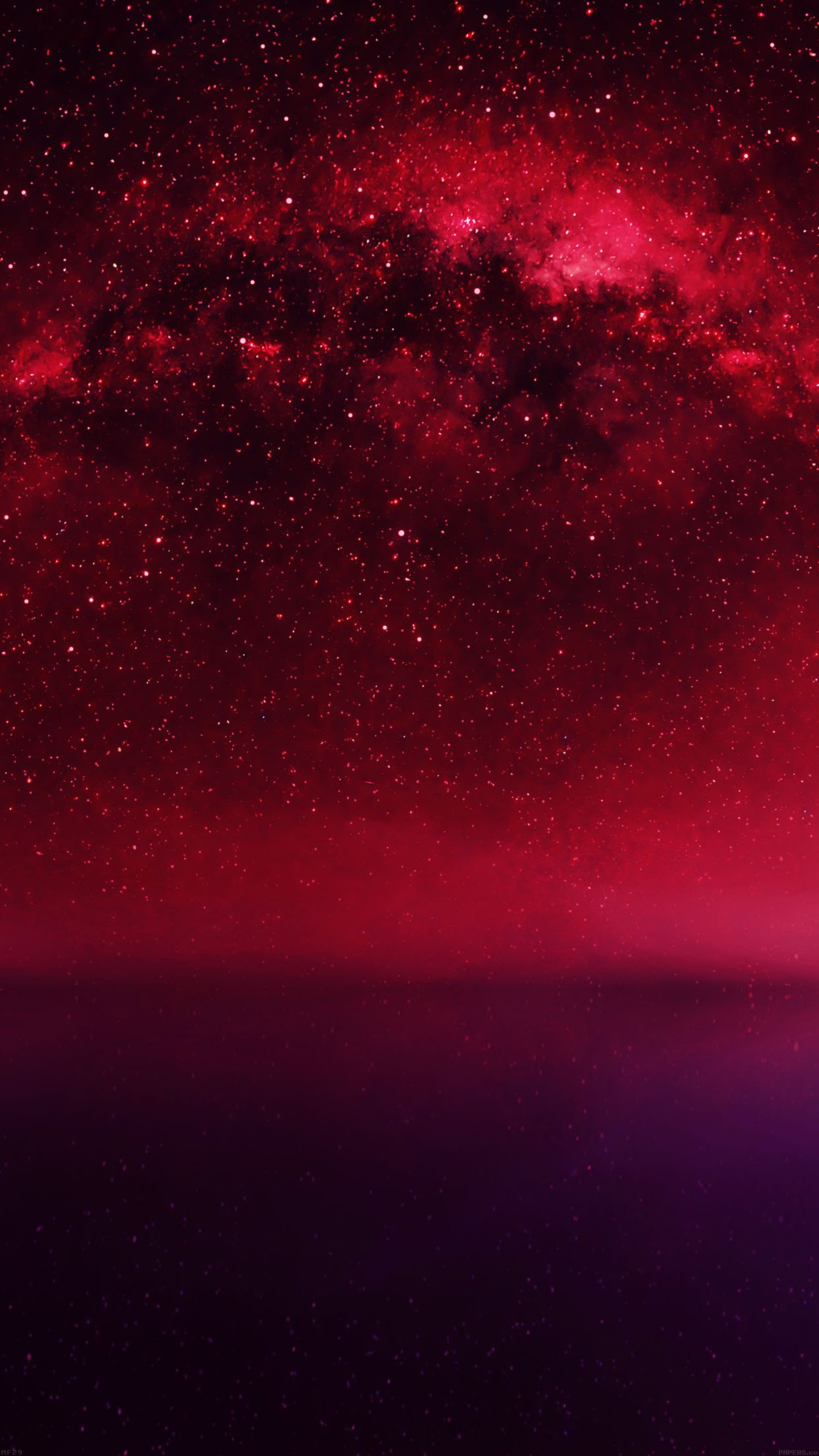 Cosmos Red Night Live Lake Space Starry Android Wallpaper
