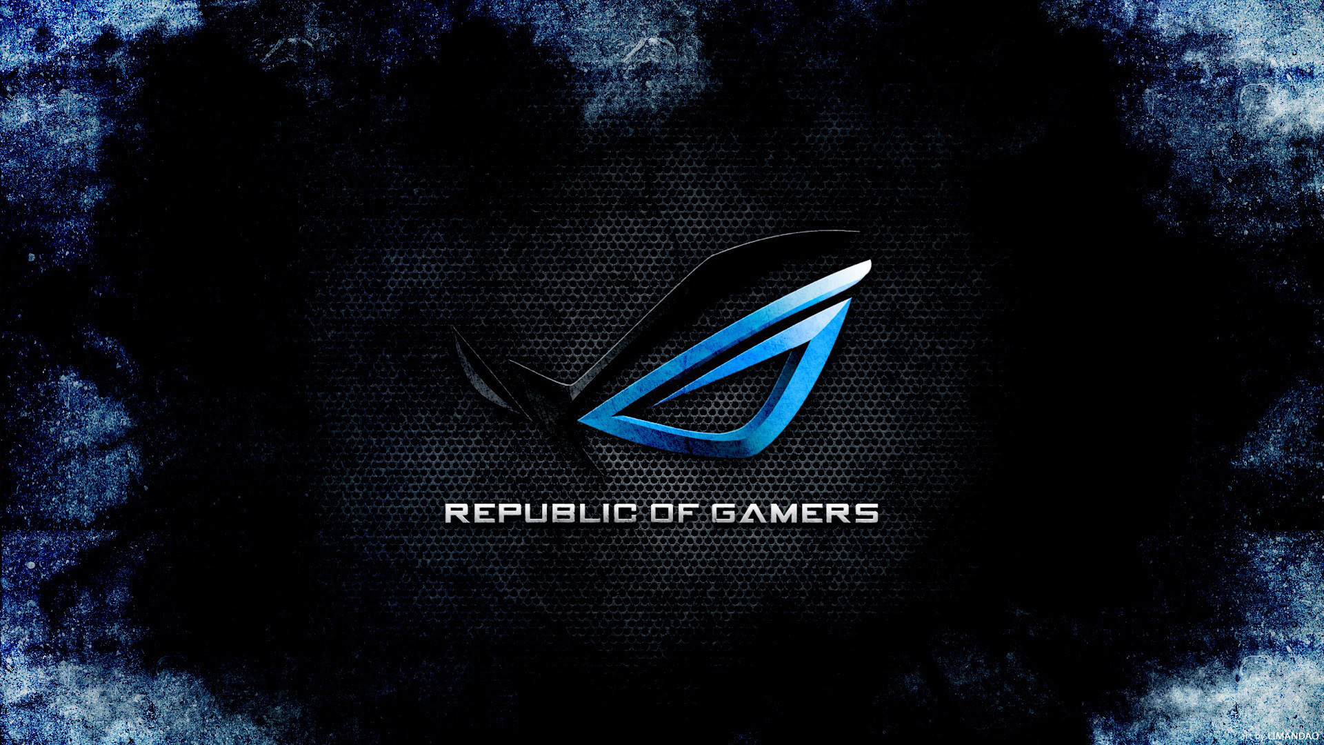 Cyberpunk Wallpapers - Republic Of Gamers Wallpaper Hd Blue , HD Wallpaper & Backgrounds