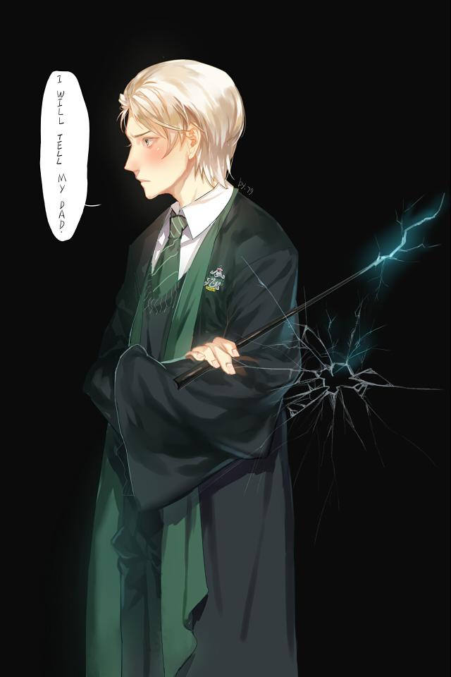 Draco Malfoy Mobile Wallpaper - De Draco Malfoy Animadas , HD Wallpaper & Backgrounds