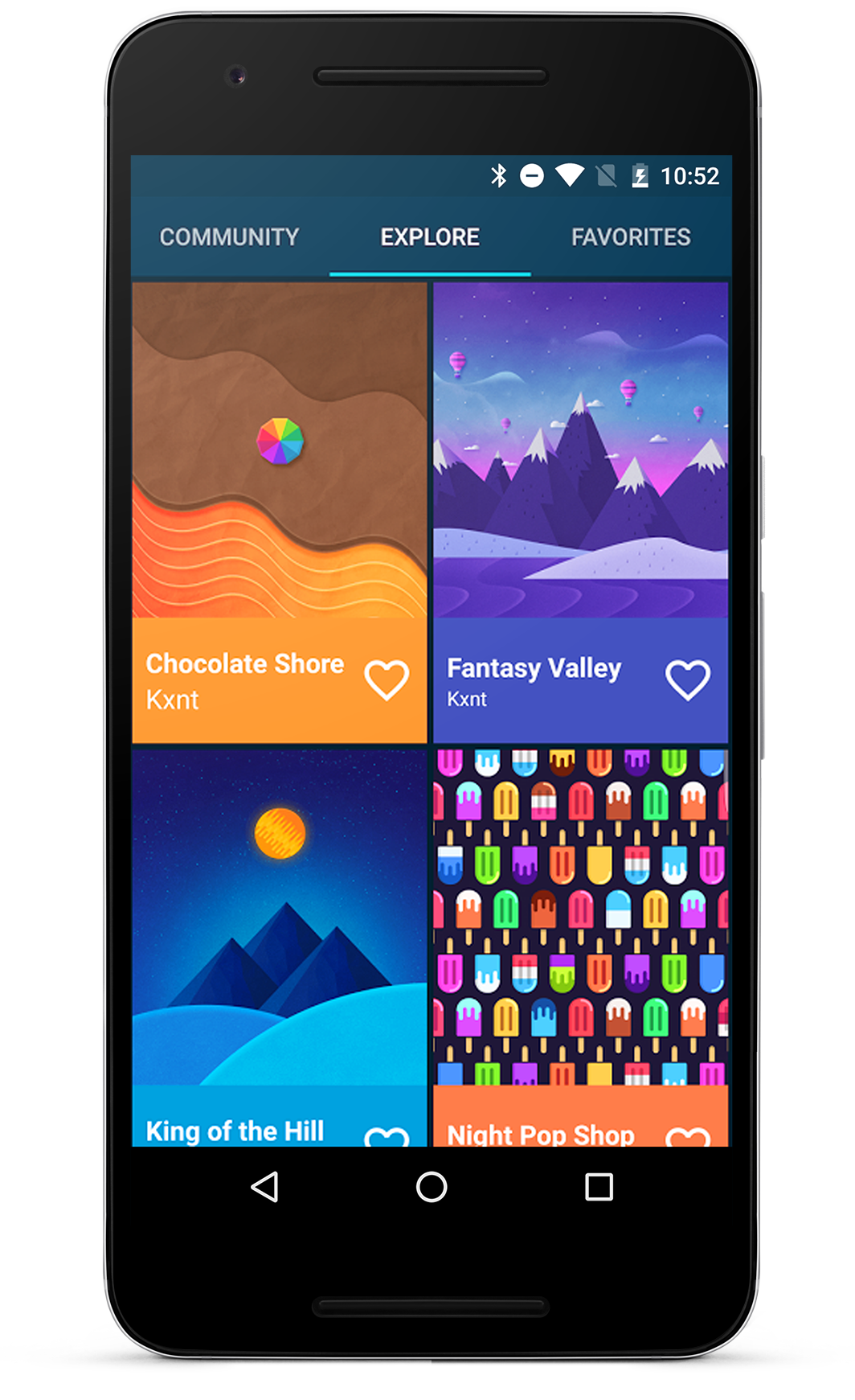 Sift Through Hundreds Of Original Wallpapers Hand Crafted - Mobile App , HD Wallpaper & Backgrounds