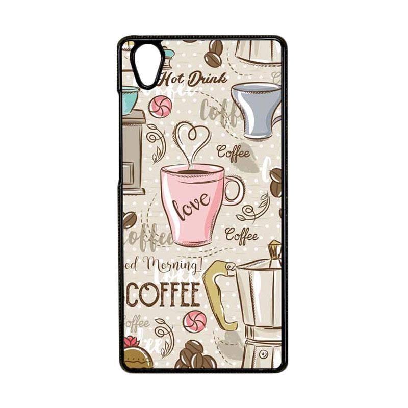 Jual Bunnycase Hp Coffee Wallpaper L0336 Custom Hardcase Coffee