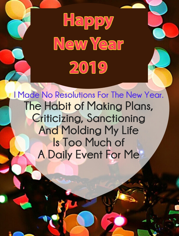 New Year Resolution 2019 Wishes Quotes - Family Merry Christmas And Happy New Year , HD Wallpaper & Backgrounds