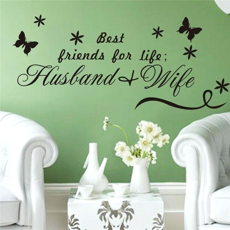 Best Friends For Life Husband Wife Wall Decal Bedroom ...