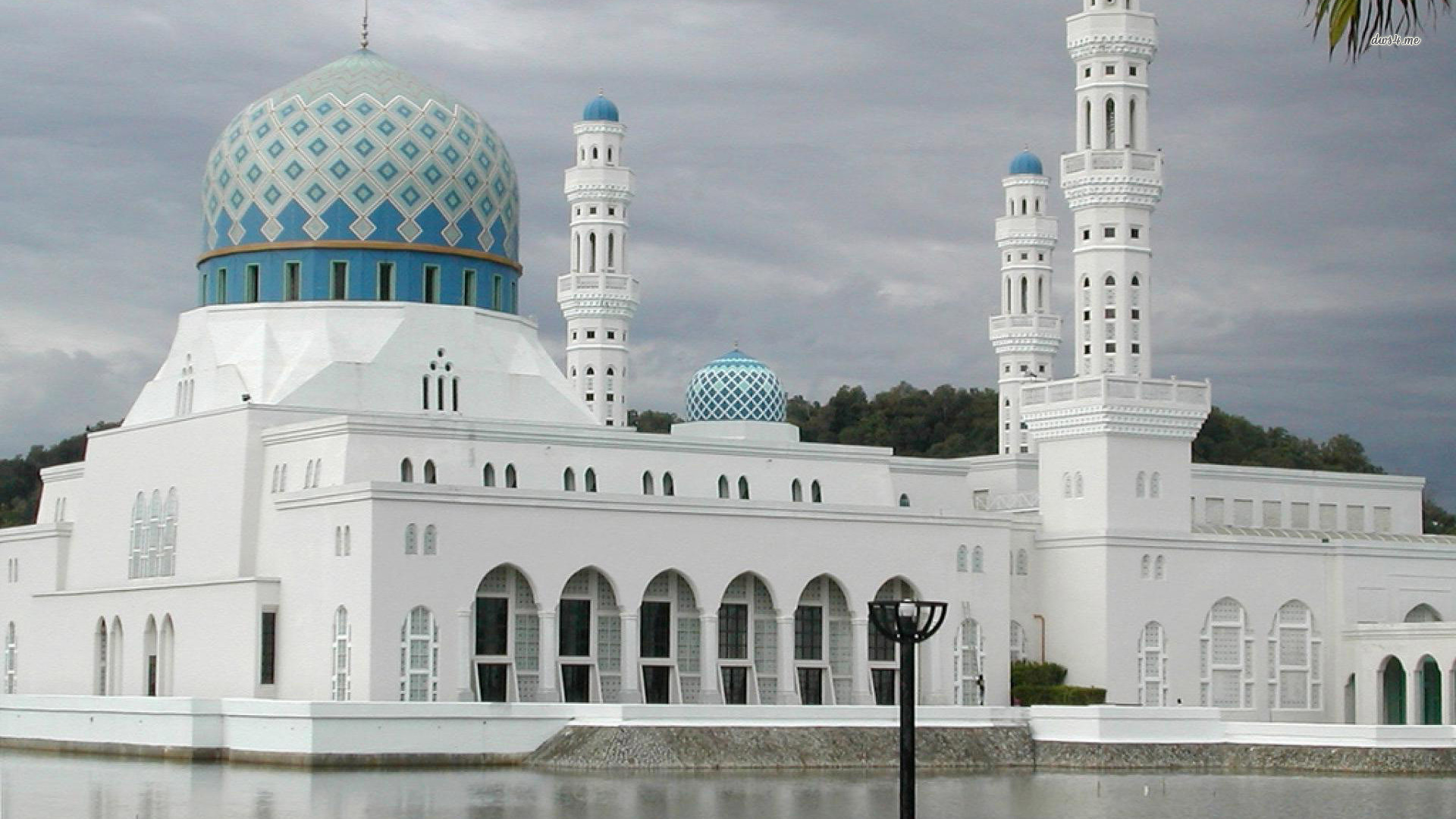 Mosque Islamic Wallpaper Hd Kota Kinabalu City Mosque