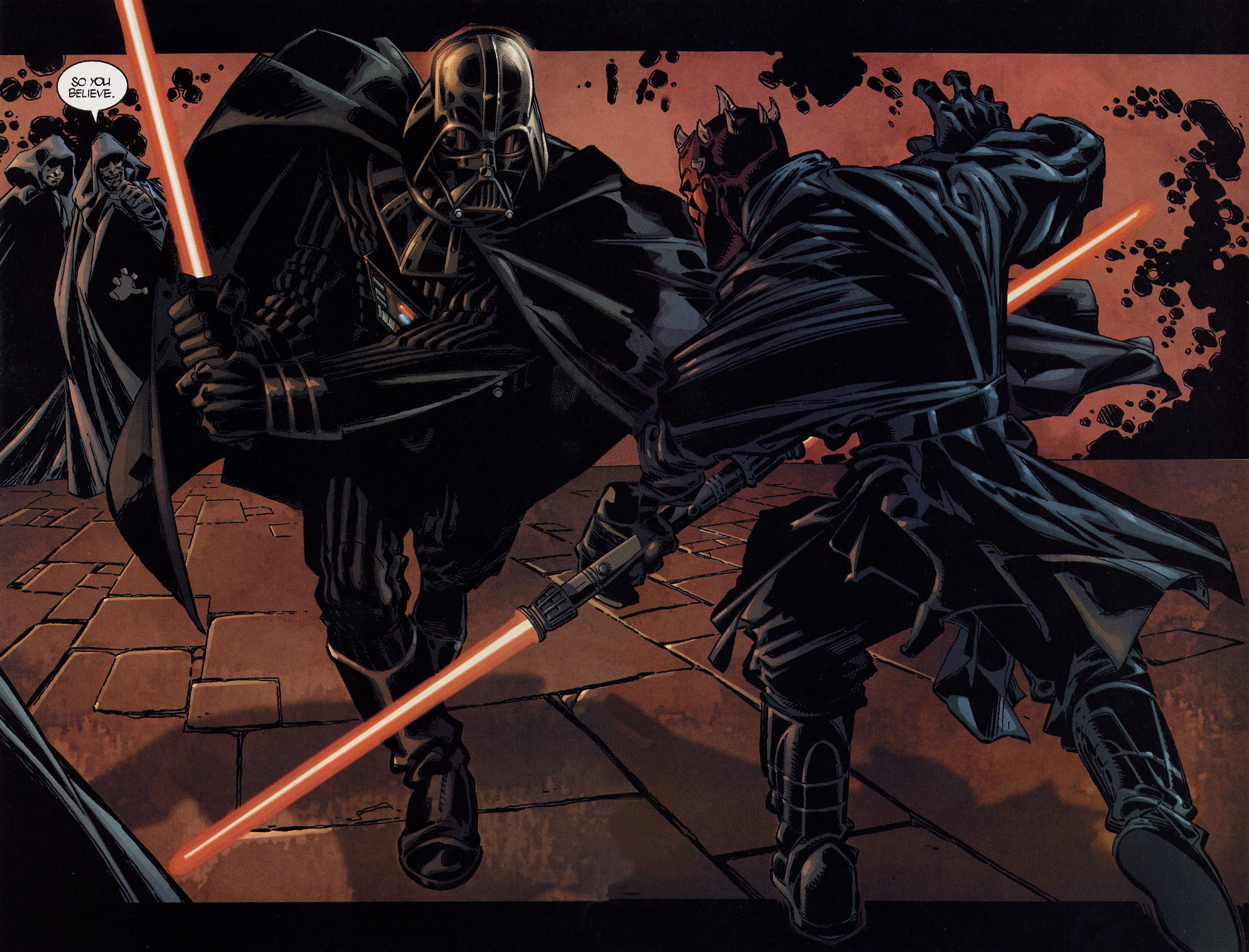 Darth Maul - Image - Star Wars Darth Vader Vs Darth Maul , HD Wallpaper & Backgrounds