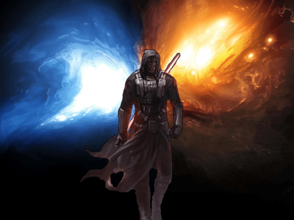 141 1414810 star wars revan wallpaper wallpapersafari divided light from