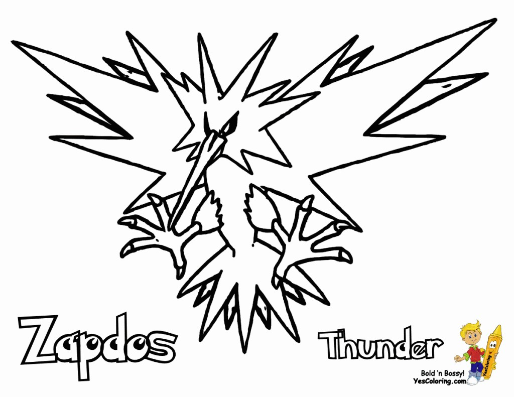 Pokemon Zapdos Coloring Pages Wallpaper Details - Zapdos Pokemon Coloring Pages , HD Wallpaper & Backgrounds