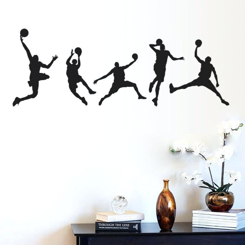 Basketball Match Wall Art Mural Decor Home Decoration - Wall Stickers 3d Basketball Players , HD Wallpaper & Backgrounds