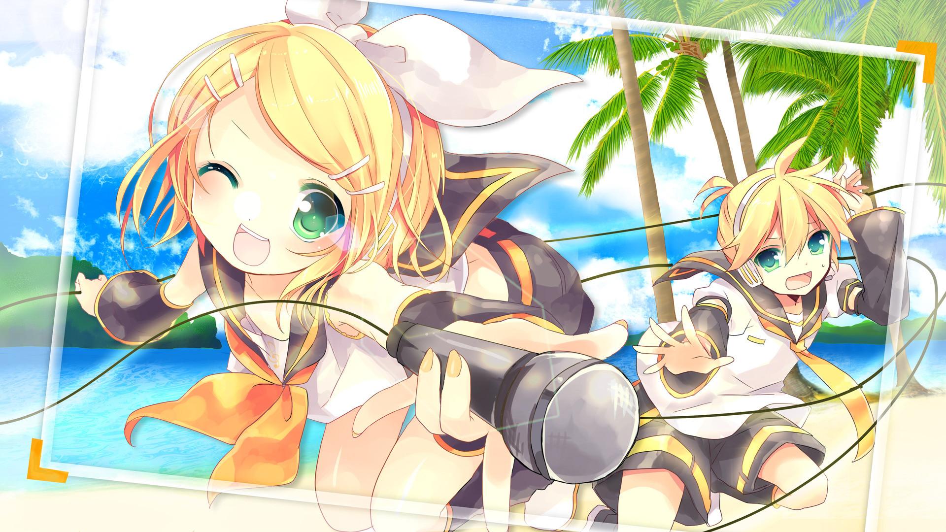 Anime Kosuzume Vocaloid Kagamine Len Kagamine Rin
