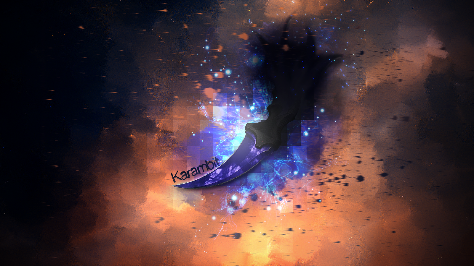 With Text Csgo Knife Wallpaper Hd 1420887 Hd