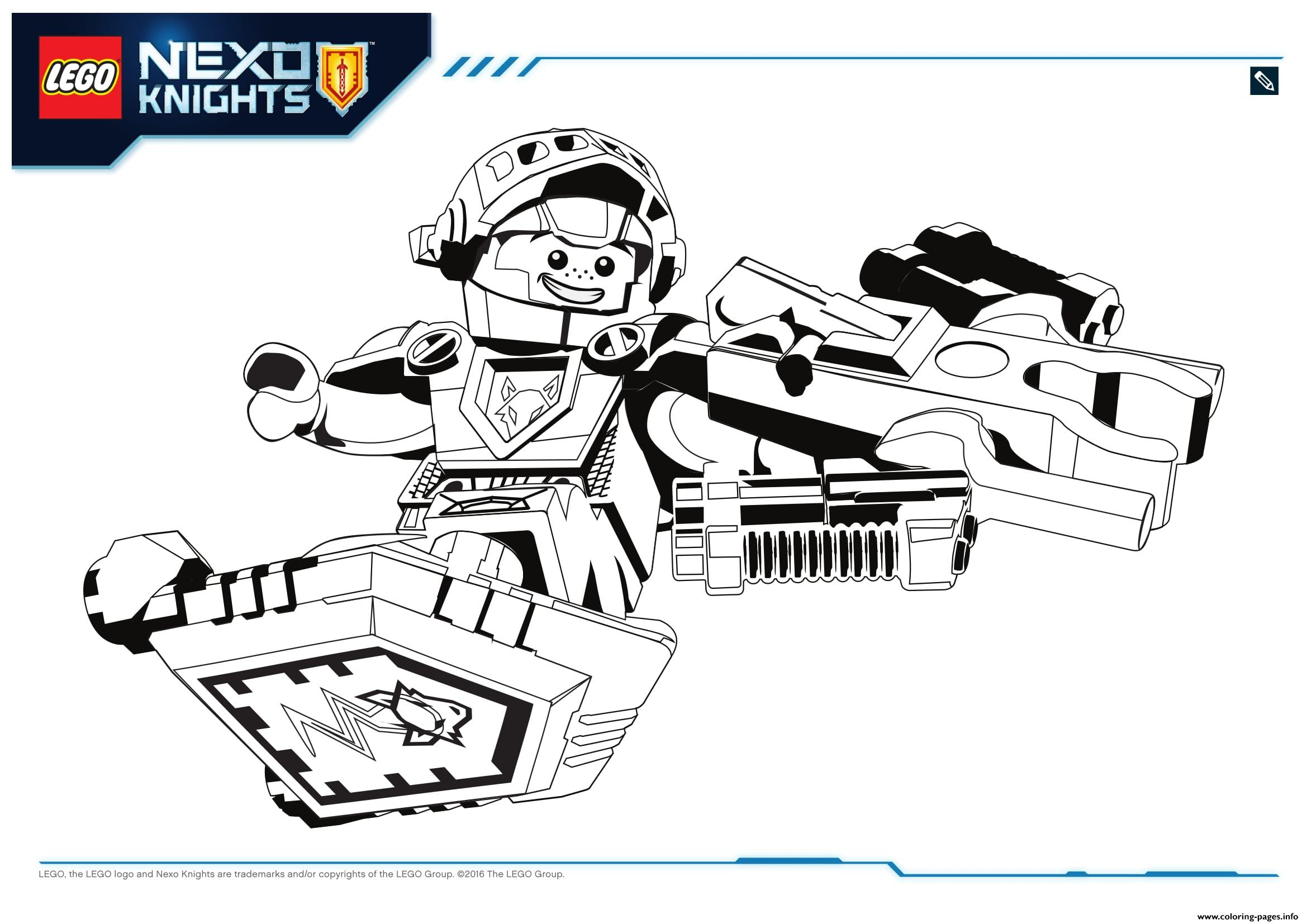 Coloring Pages Incredible Lego Nexo Knights Coloring - Nexo Knights Coloring Pages Aaron , HD Wallpaper & Backgrounds