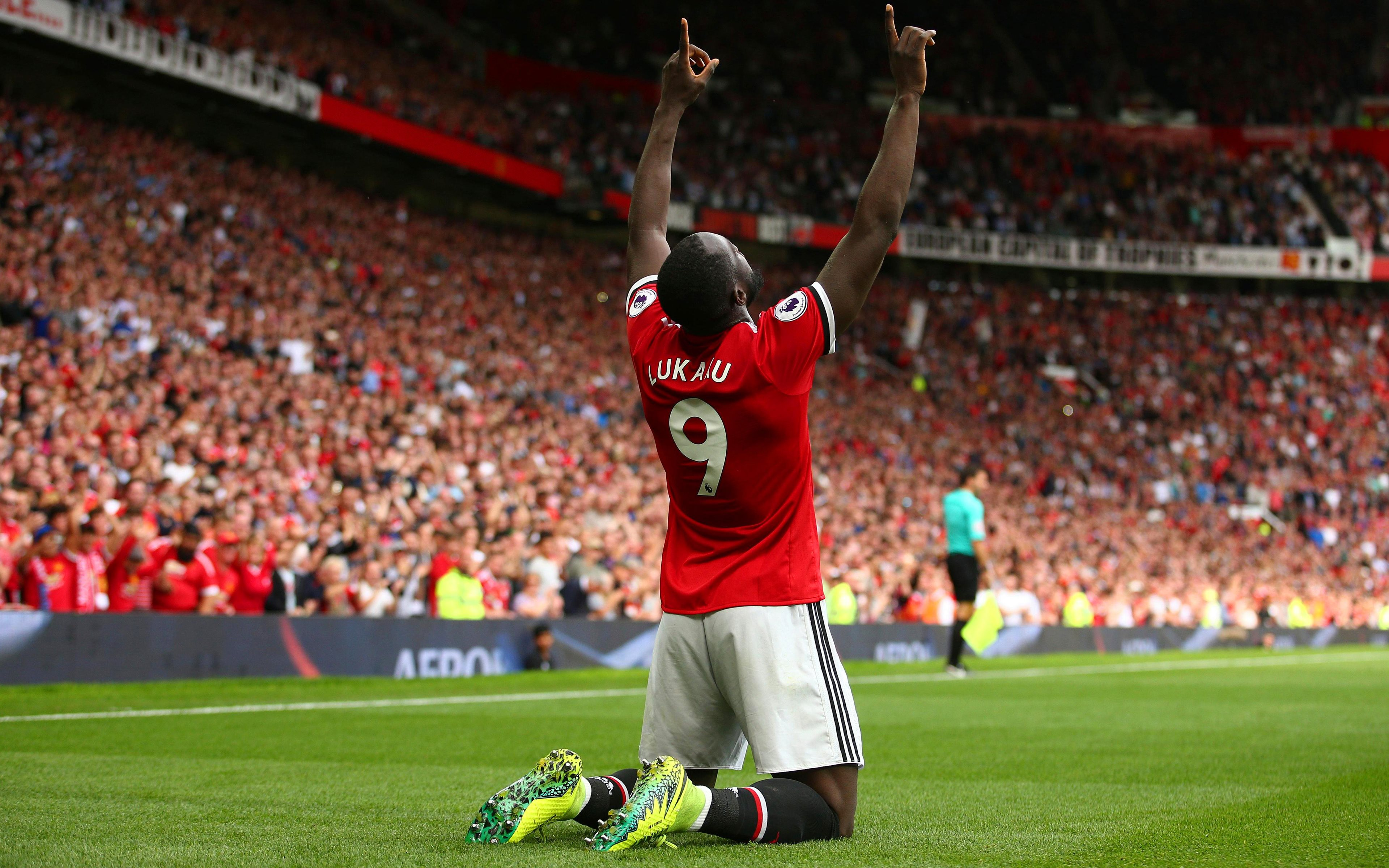 Download Wallpapers 4k Romelu Lukaku Mu Soccer Romelu