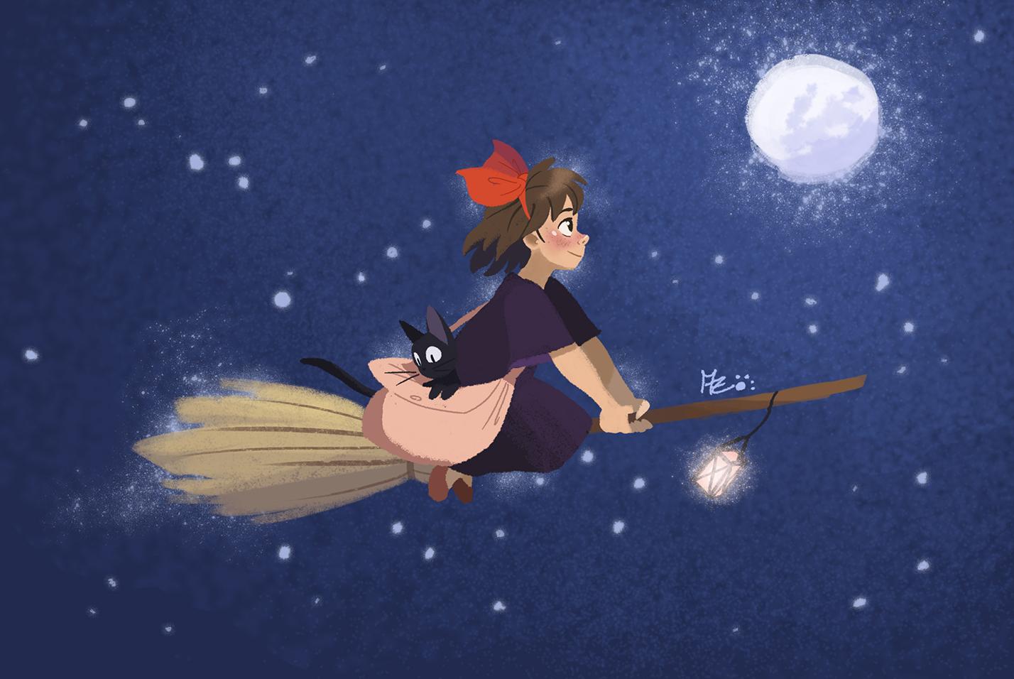 Kiki S Delivery Service Fond D Ecran Called Kiki And Ghibli