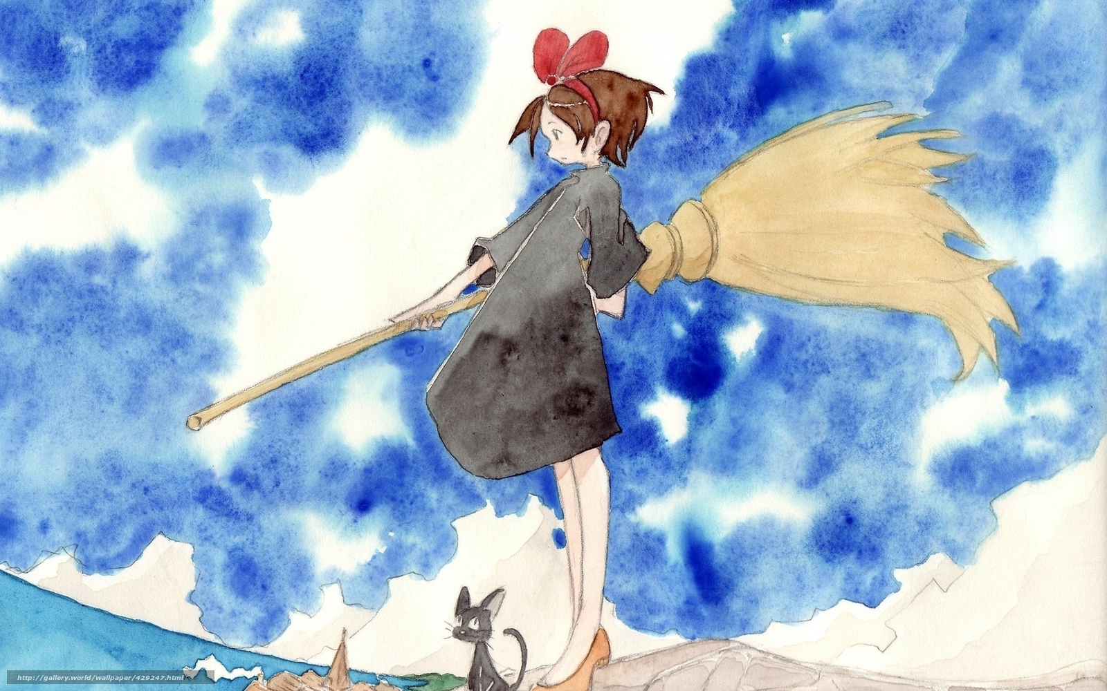 Download Wallpaper Art Witch S Delivery Service Witch