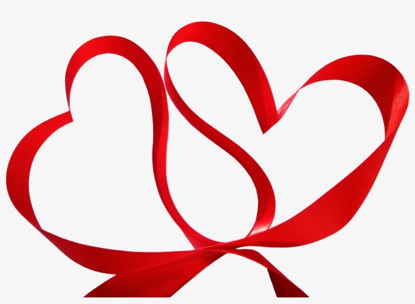 Wedding Heart Clip Art Red Transprent - 2 Heart Shape Ribbon , HD Wallpaper & Backgrounds