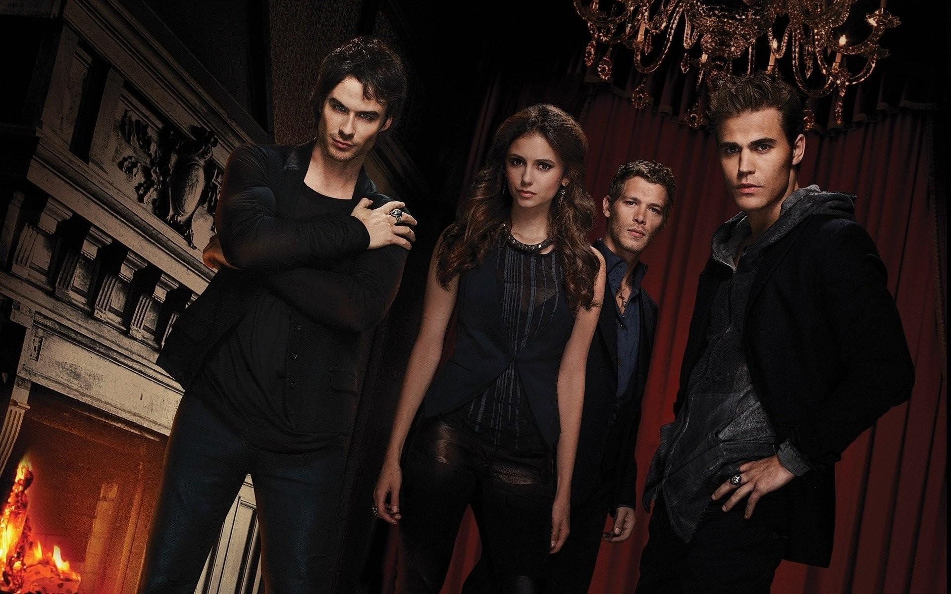 Damon Salvatore And Stefan Salvatore And Elena , HD Wallpaper & Backgrounds