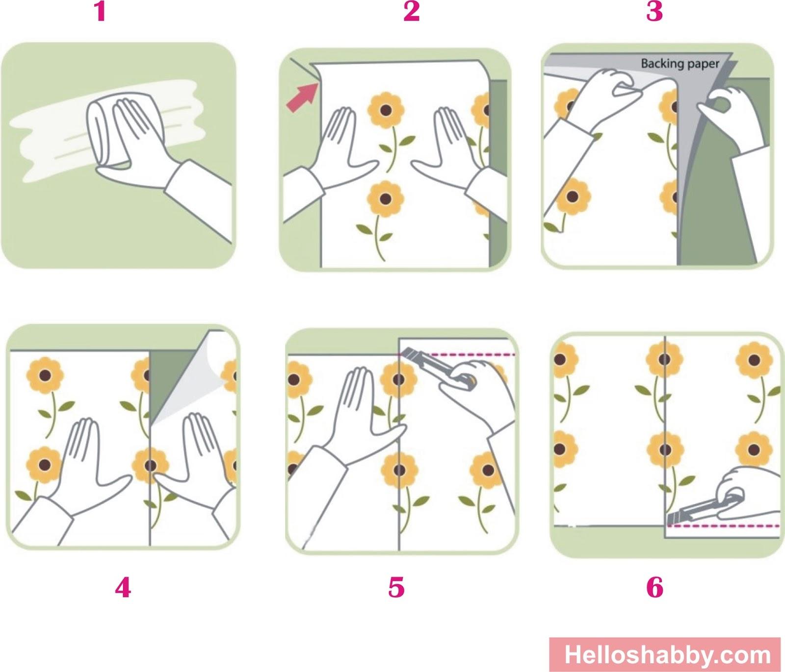 Cara Mudah Pasang Wallpaper Dinding Rumah Shabby Chic Cara