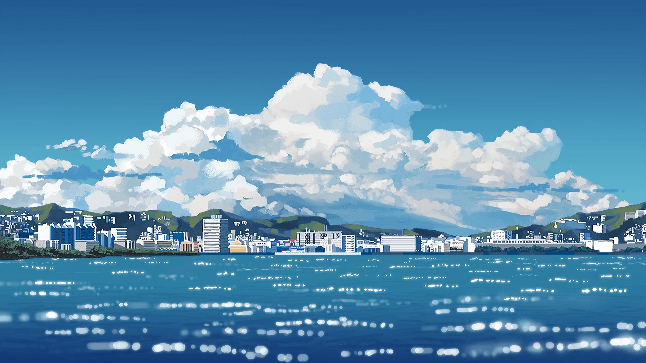 Jun Wei Makoto Shinkai 2084x1172 Anime Wallpaper Makoto Shinkai 1431800 Hd Wallpaper Backgrounds Download