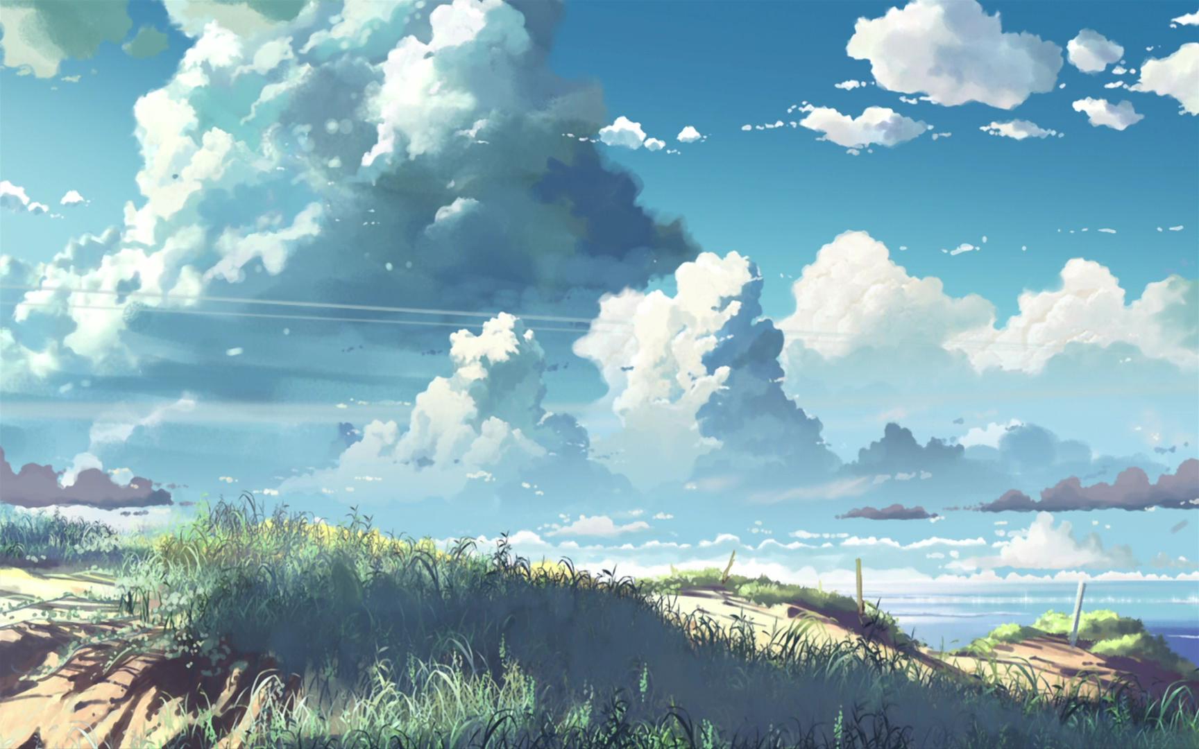 #sky, #artwork, #5 Centimeters Per Second, #makoto - 5 Centimeters Per Second , HD Wallpaper & Backgrounds