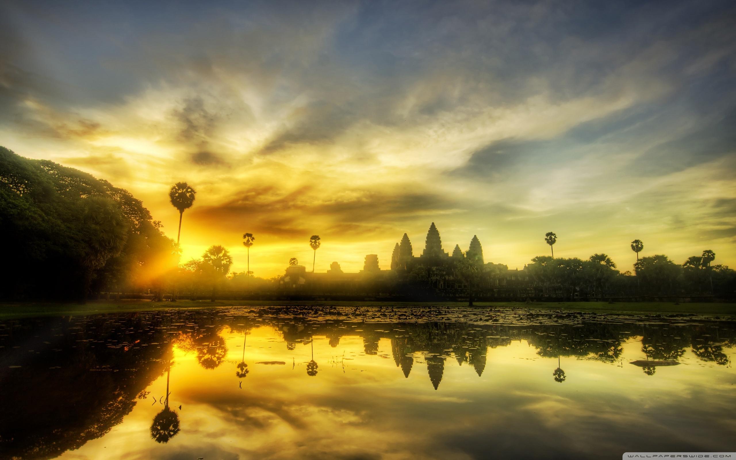 Wide - Angkor Wat Wallpaper Desktop , HD Wallpaper & Backgrounds