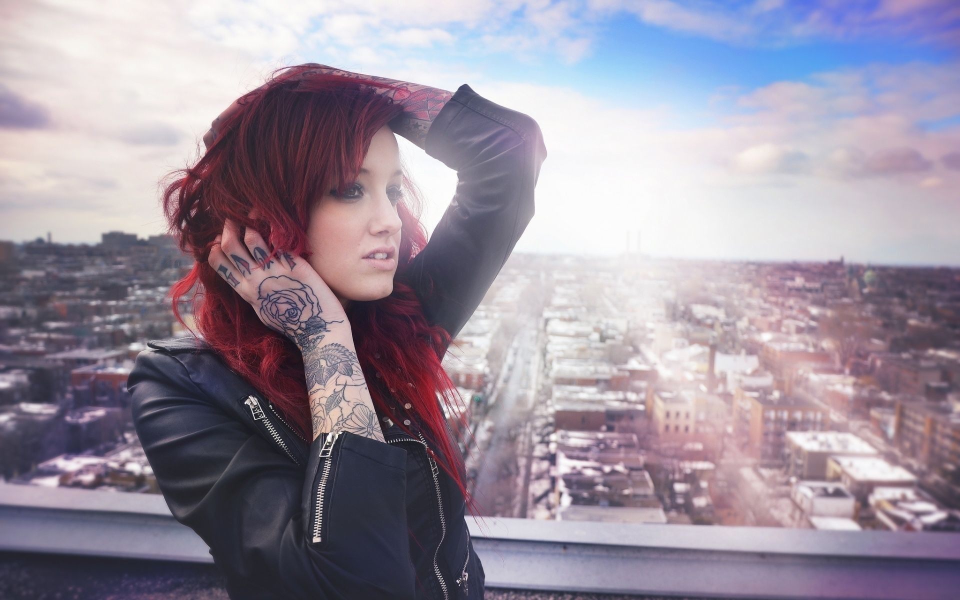 Girl Tattoo Red Hair 1434940 Hd Wallpaper Backgrounds Download