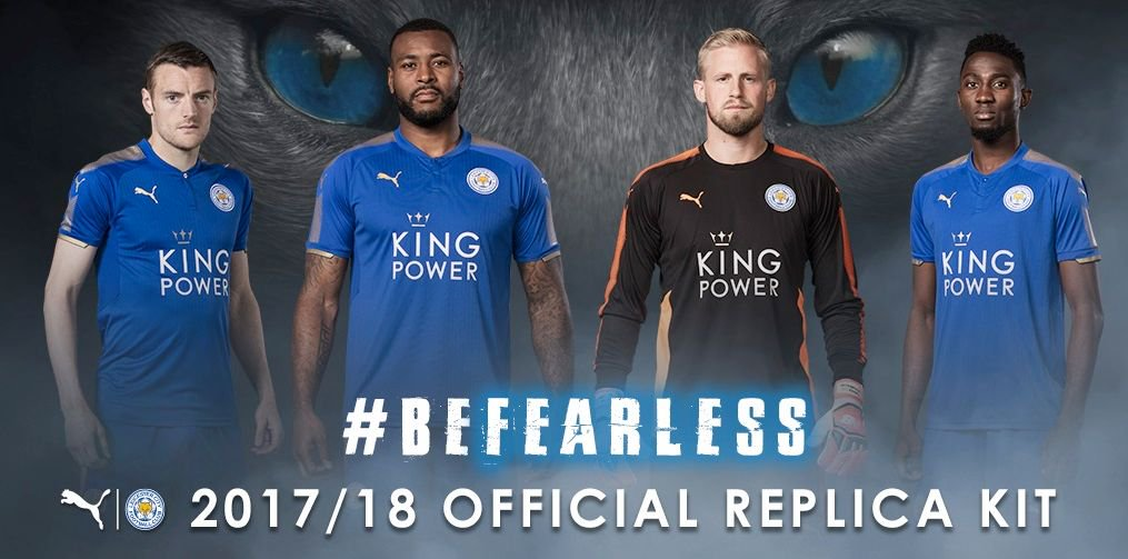 Leicester City 17 18 Home Kit Released Footy Headlines - Leicester City 2017 18 Kit , HD Wallpaper & Backgrounds