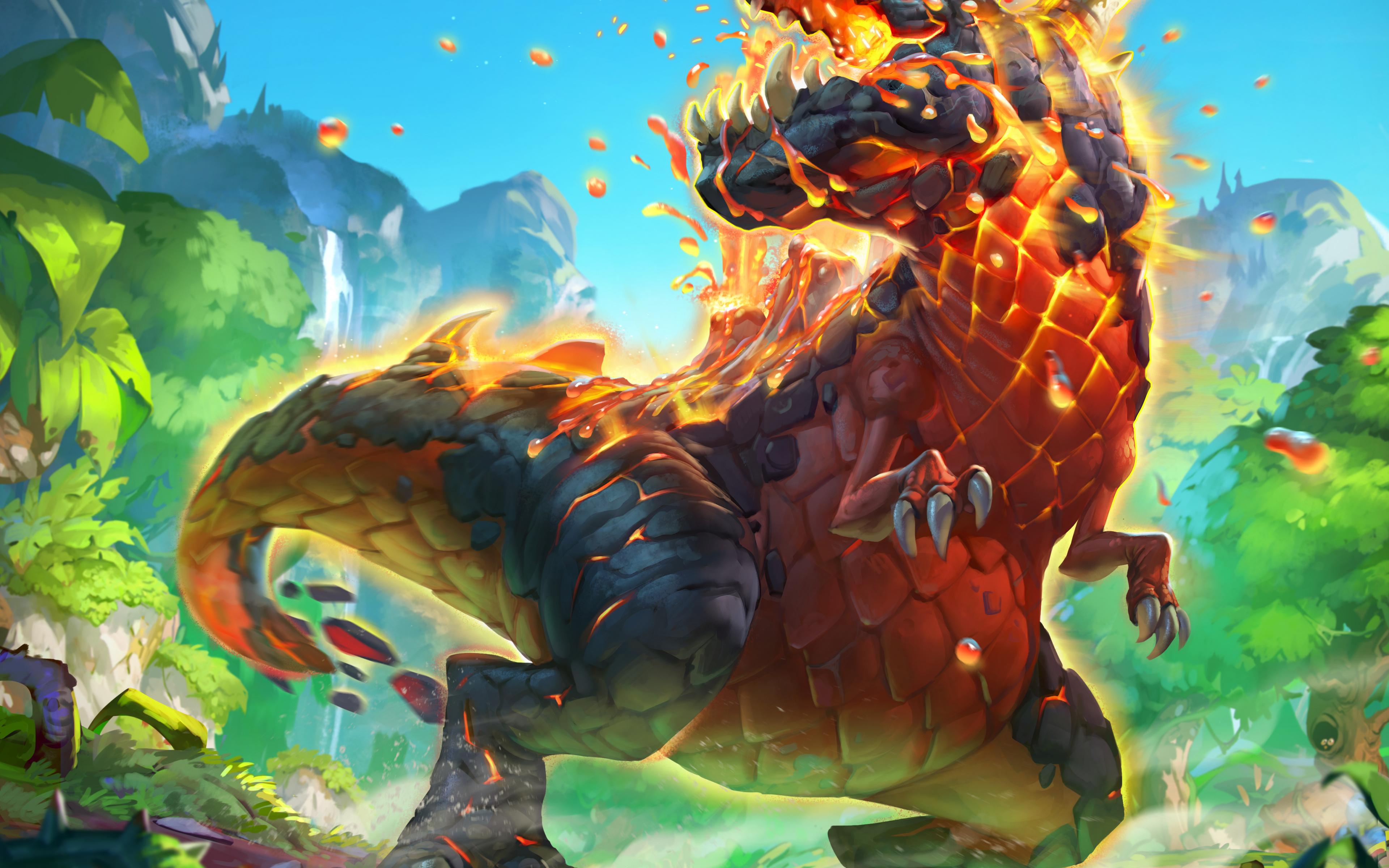 Wallpaper Fire Dinosaur Hearthstone Hearthstone Dinosaur