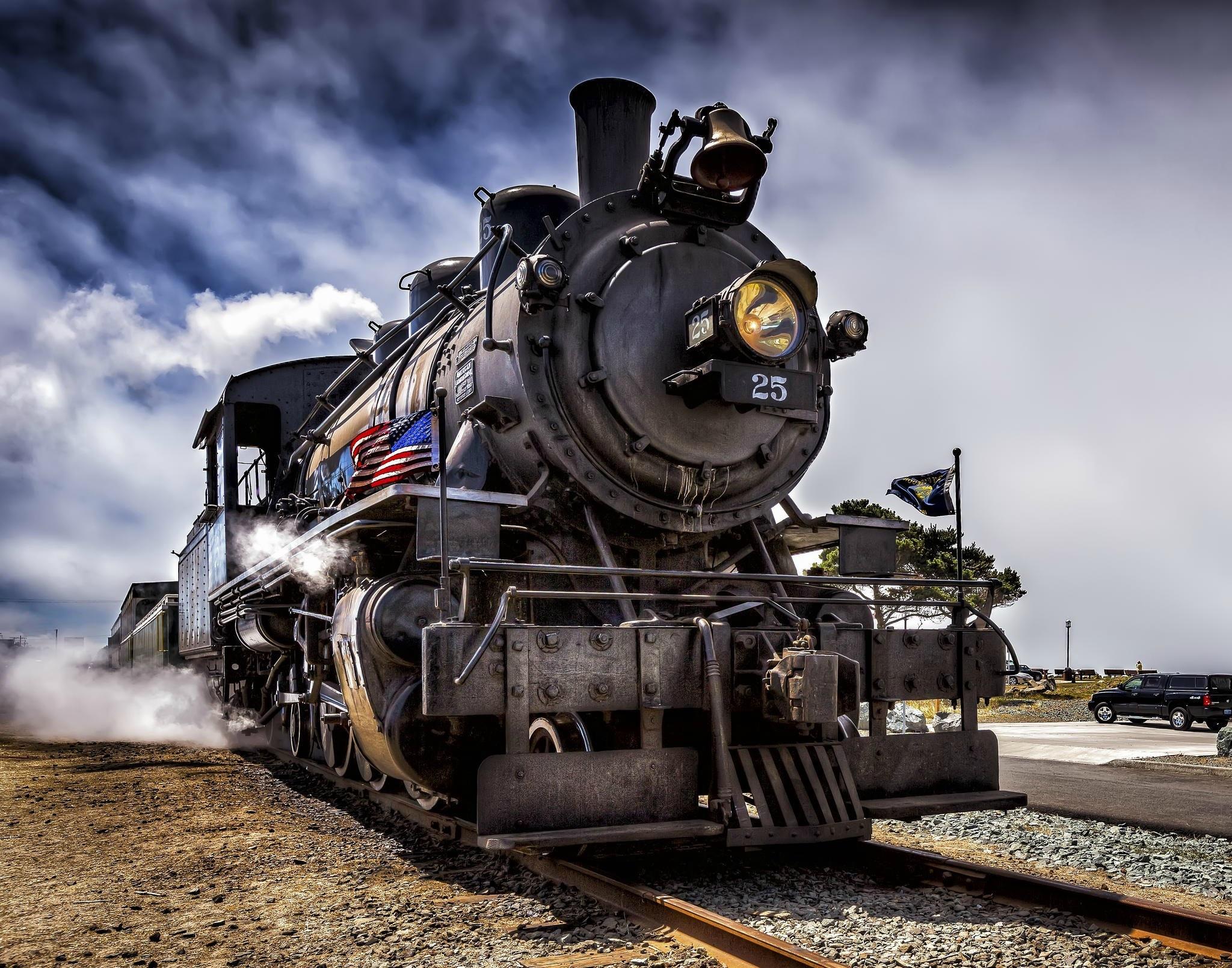 Steam Locomotive Wallpaper Train Bw 1439676 Hd