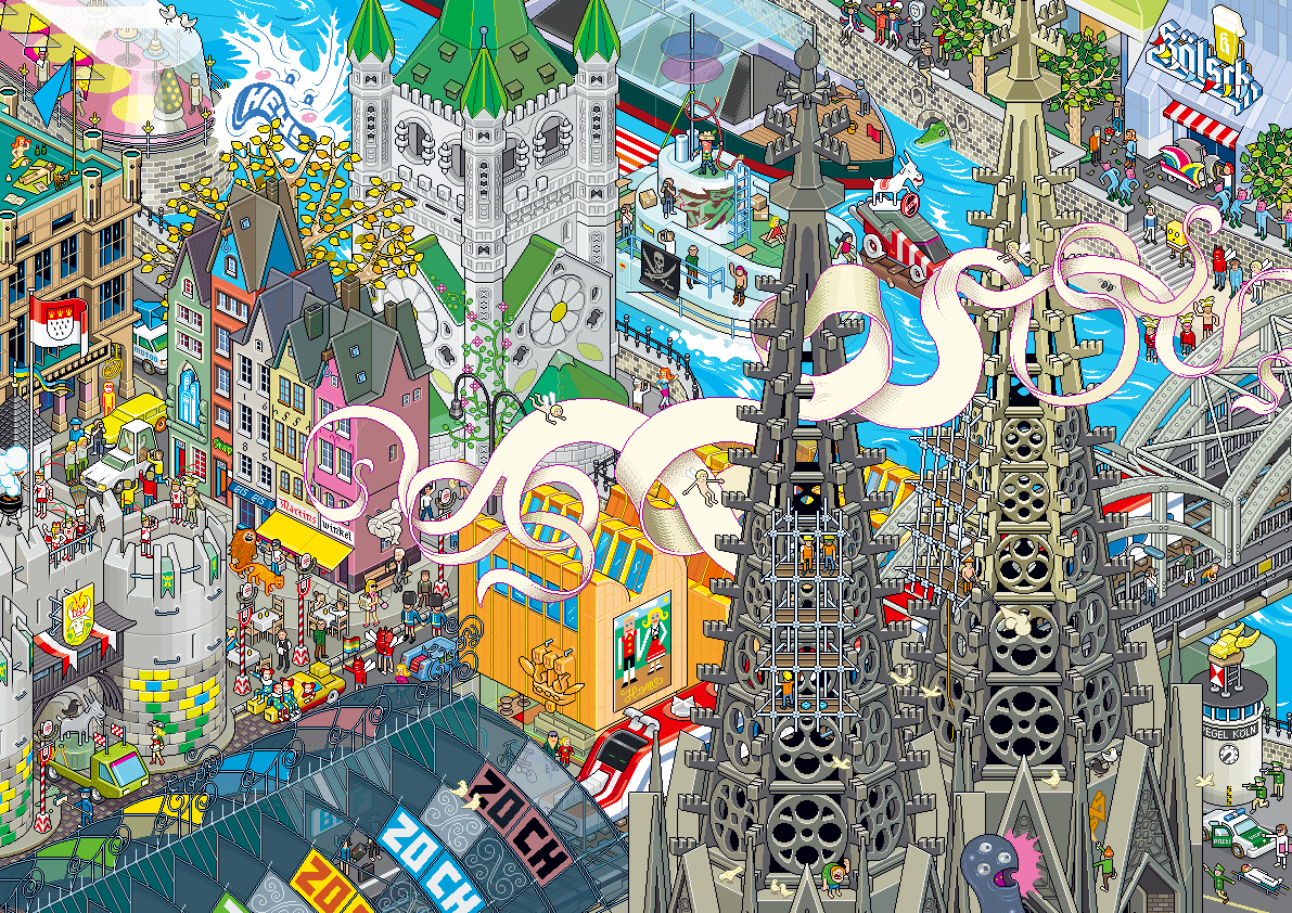 Eboy Ville Pixel Art Cologne Pixel Art Eboy Paris