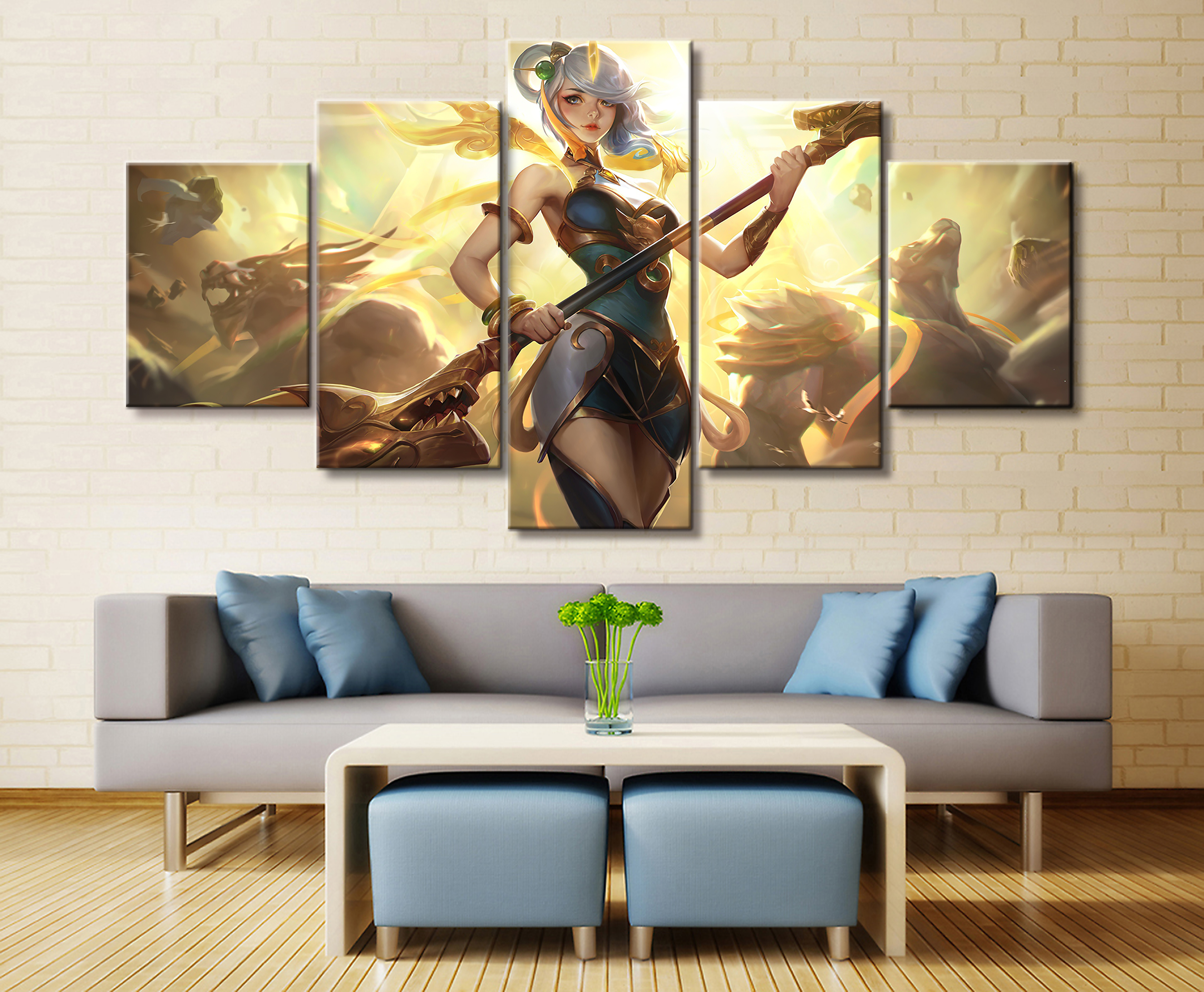5 Panel Lol League Of Legends Orianna/kha'zix Game - Wall Art Game Of Thrones , HD Wallpaper & Backgrounds