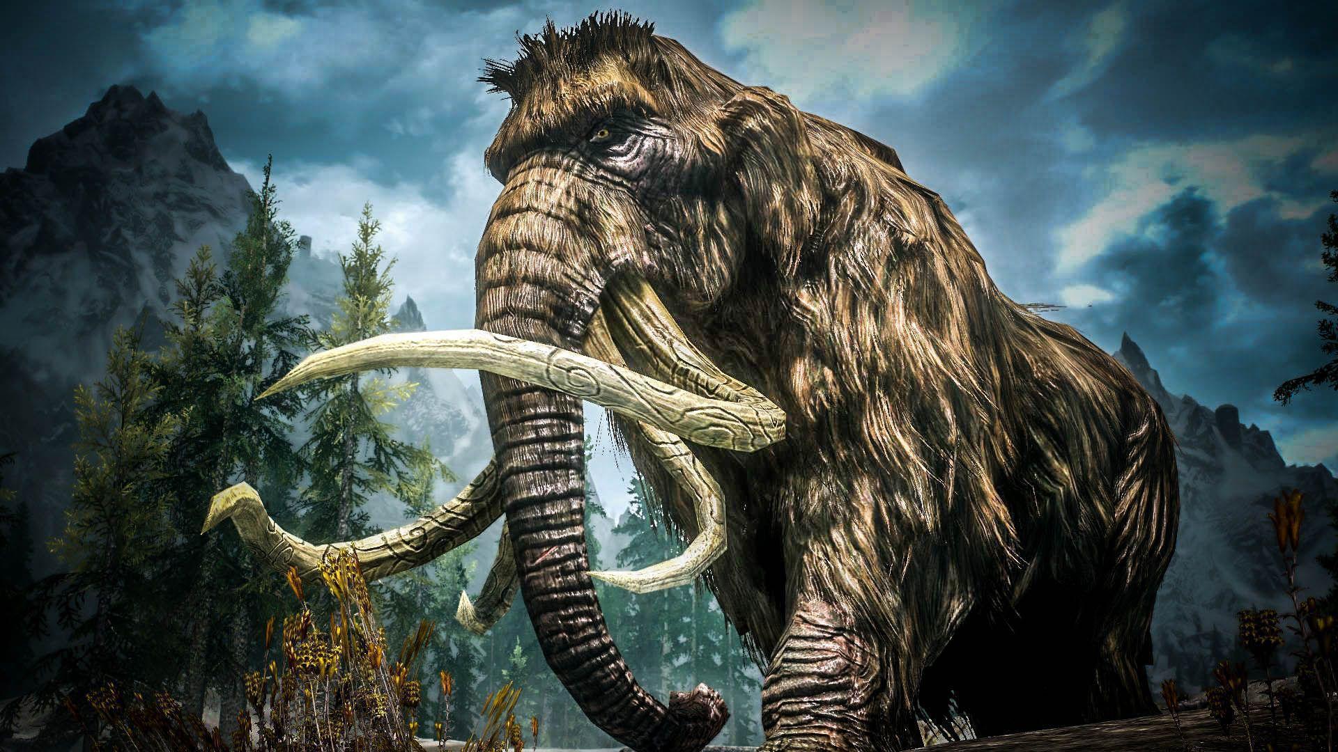 Mammoth Desktop Wallpaper Mammoth Skyrim 1444135 Hd