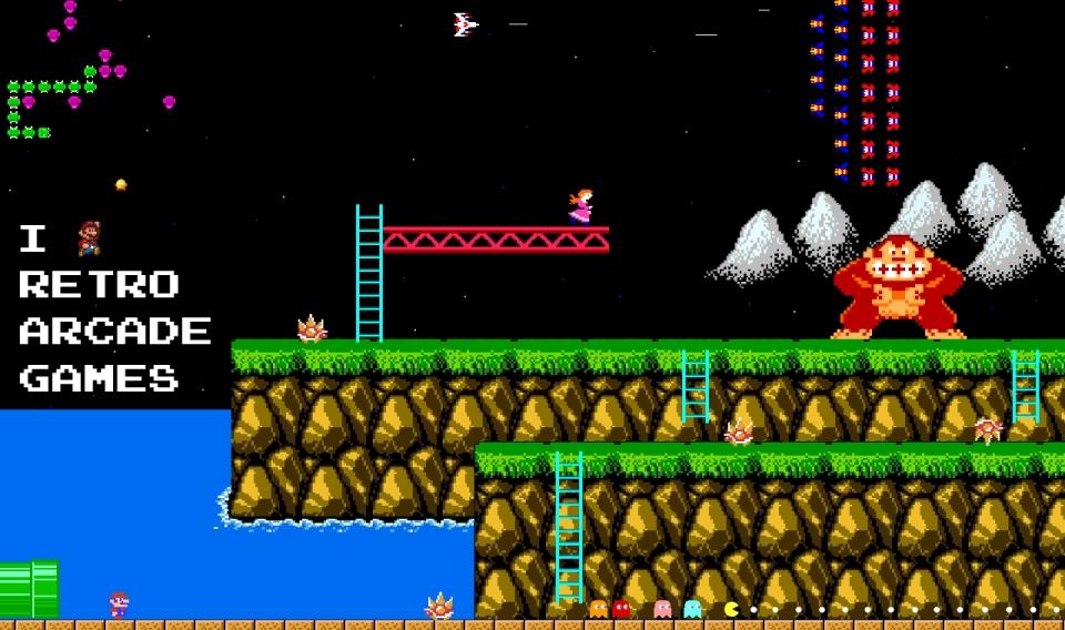 Arcade Classic Video Games , HD Wallpaper & Backgrounds