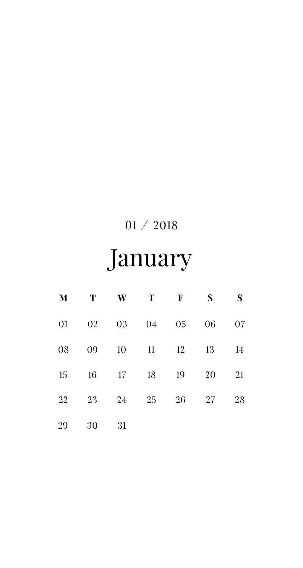 Emma's Studyblr January Minimalist Calendar Phone Iphone - January 2019 Wallpaper Minimalist , HD Wallpaper & Backgrounds