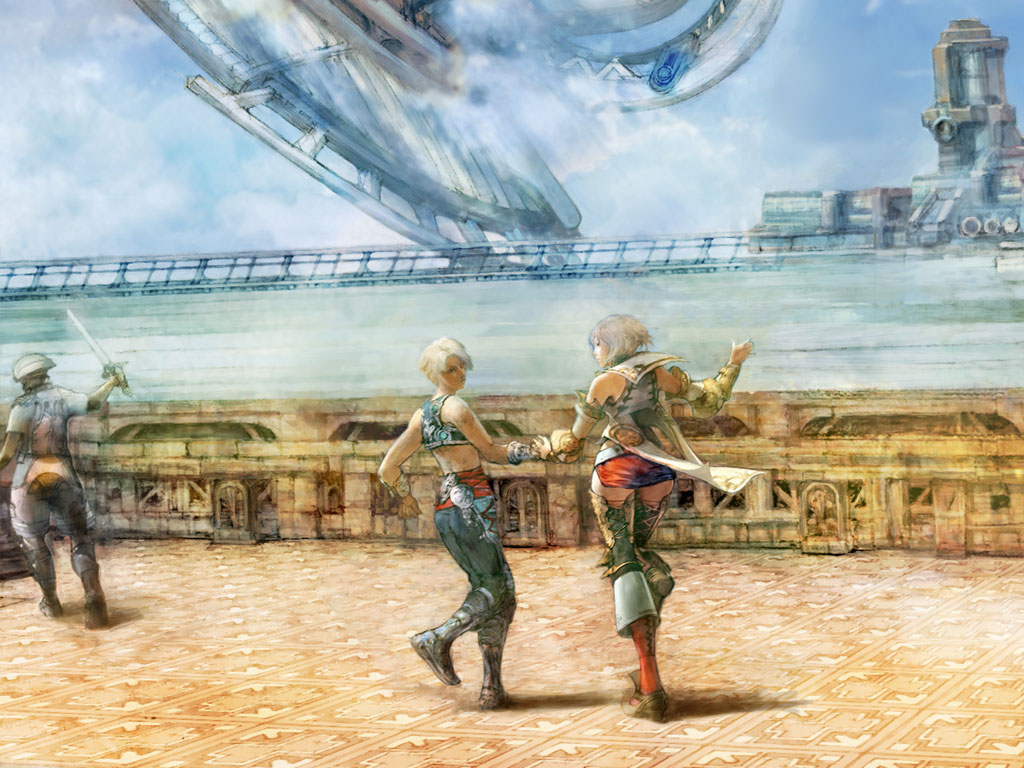 Final Fantasy Xii Game Wallpaper Final Fantasy 12 Ashe And Vaan Hd Wallpaper Backgrounds Download