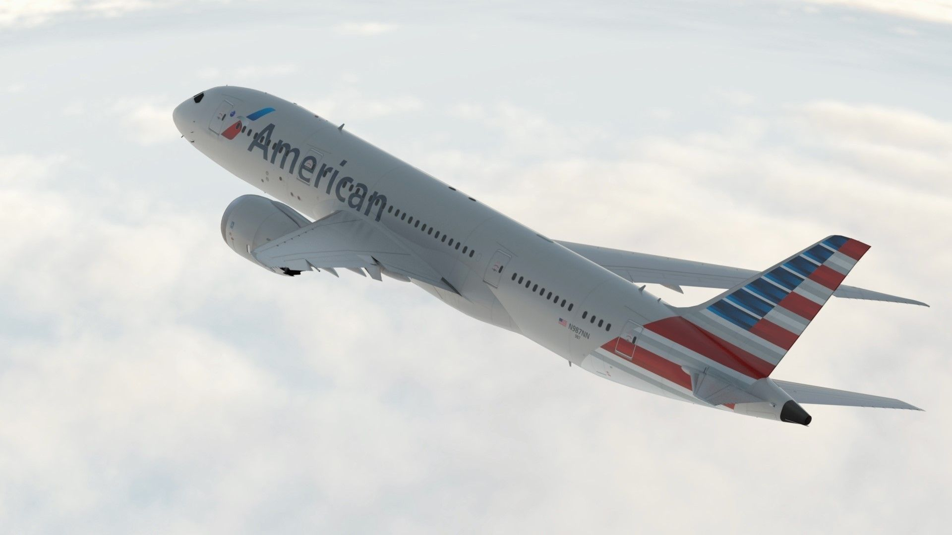 Boeing 787 Dreamliner American Airlines Aircraft 3d