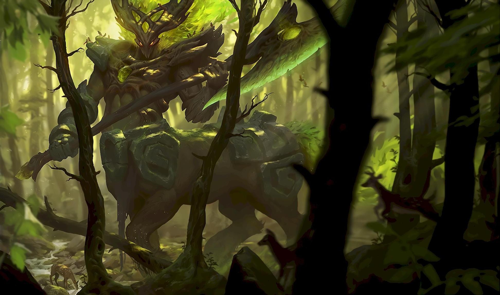 Fantasy Art, Centaur, Centaurs, League Of Legends, - League Of Legends Hecarim Forest , HD Wallpaper & Backgrounds