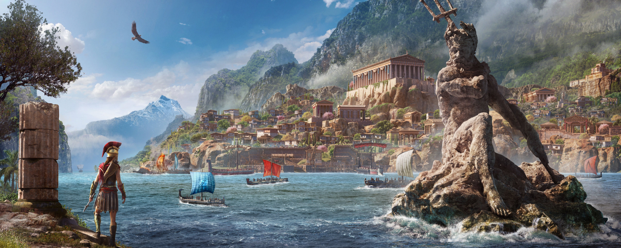 Wallpaper City River Bank Assassin S Creed Odyssey Art Of