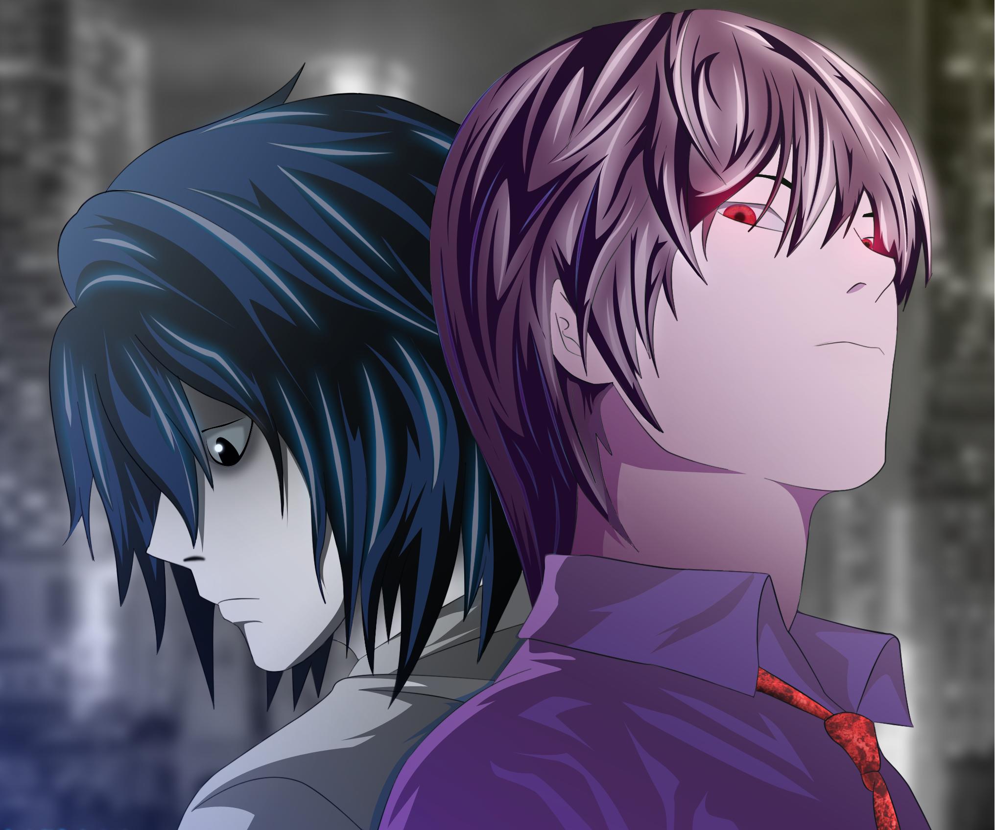Light Yagami Kira L Wallpaper And Death Note L Et Kira