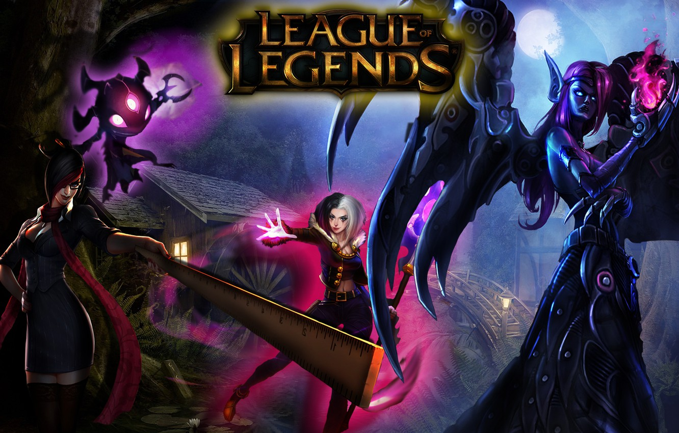 Photo Wallpaper Legends Lol Fiora Morgana Leblanc League Of