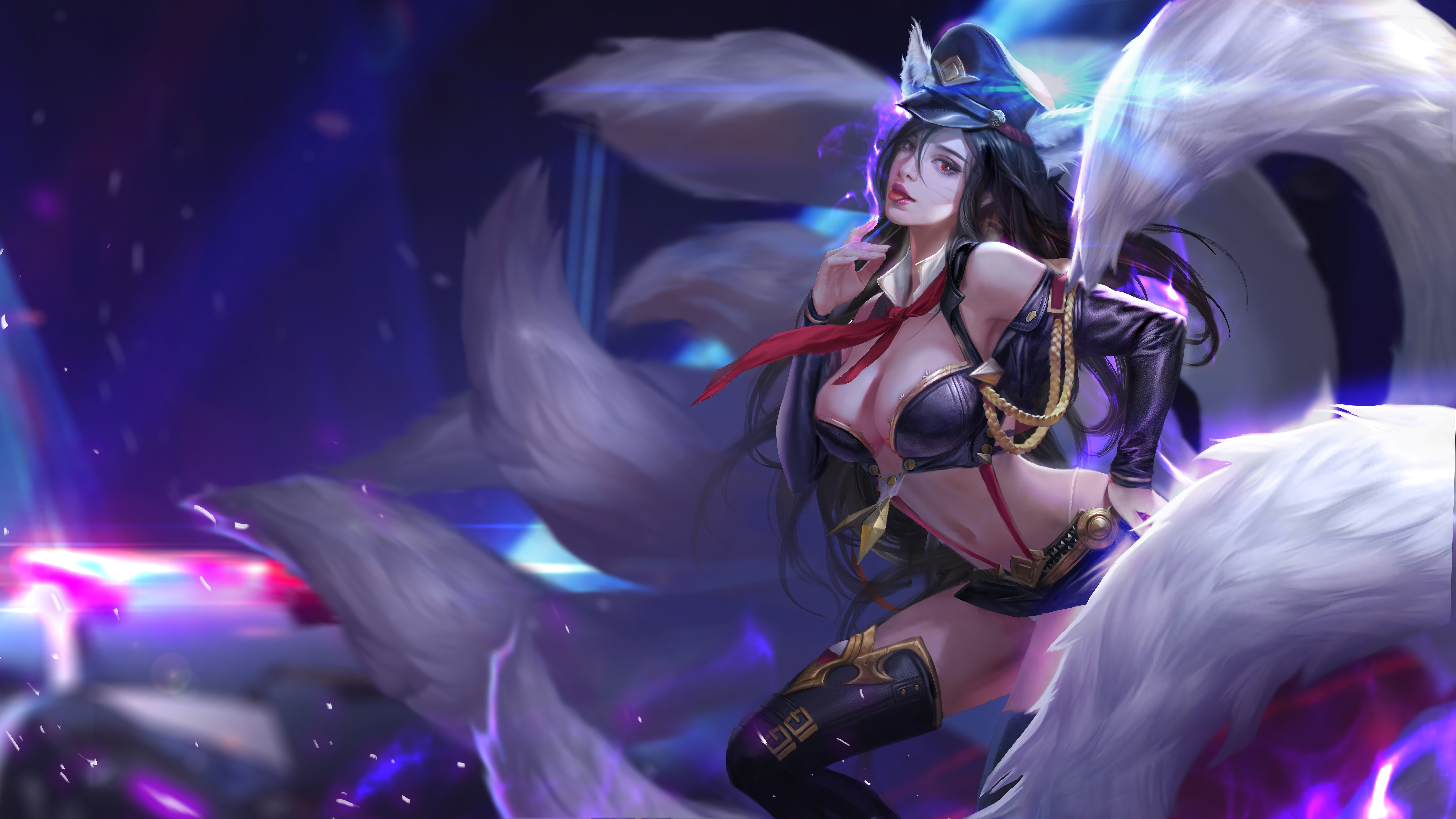 Officer Ahri Lol League Of Legends League Of Legends All Girls