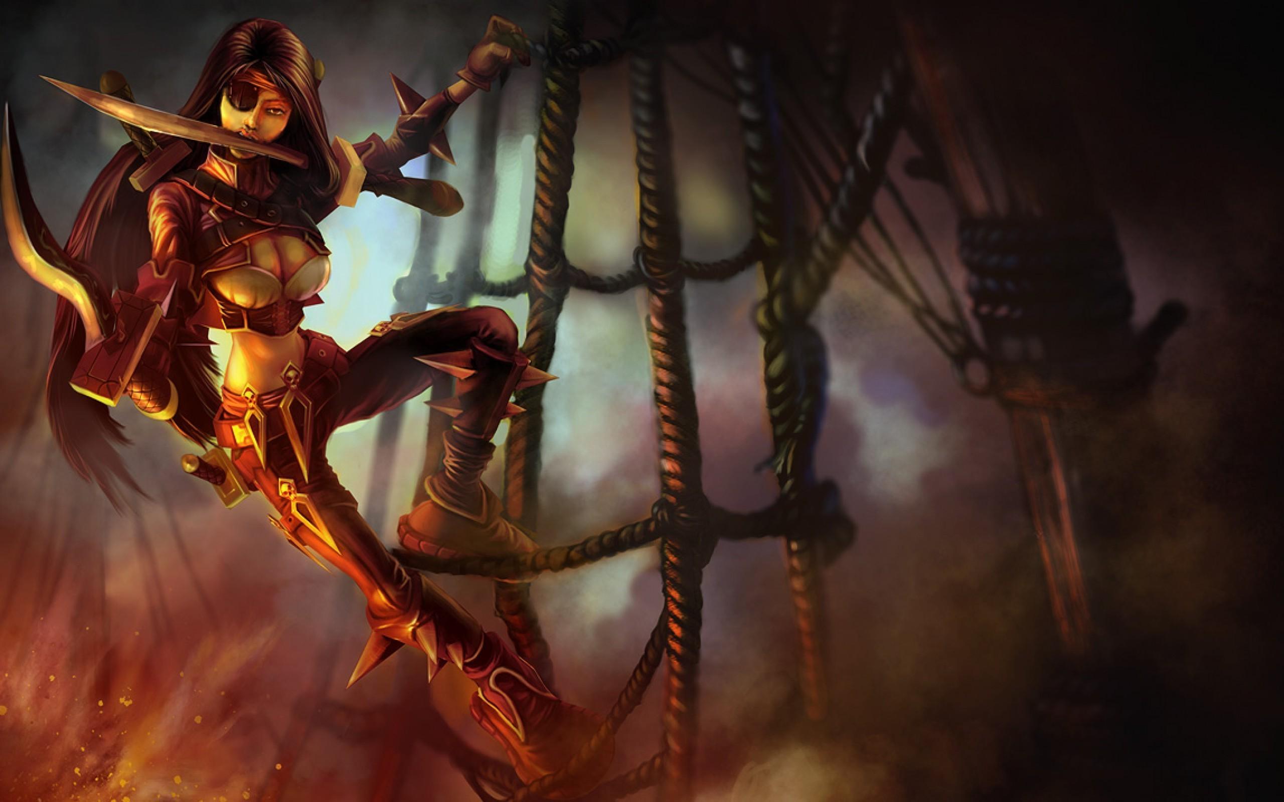 Katarina, League Of Legends Wallpapers Hd / Desktop - Katarina League Of Legends Wallpaper Art , HD Wallpaper & Backgrounds