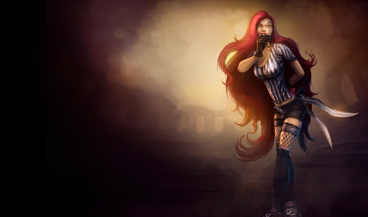 Red Card Katarina Skin League Of Legends Old Katarina
