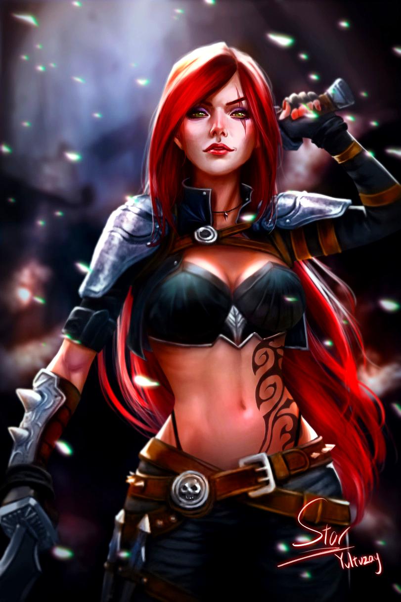 Katarina Lol Lol League Of Legends Fan Art Wallpaper League Of