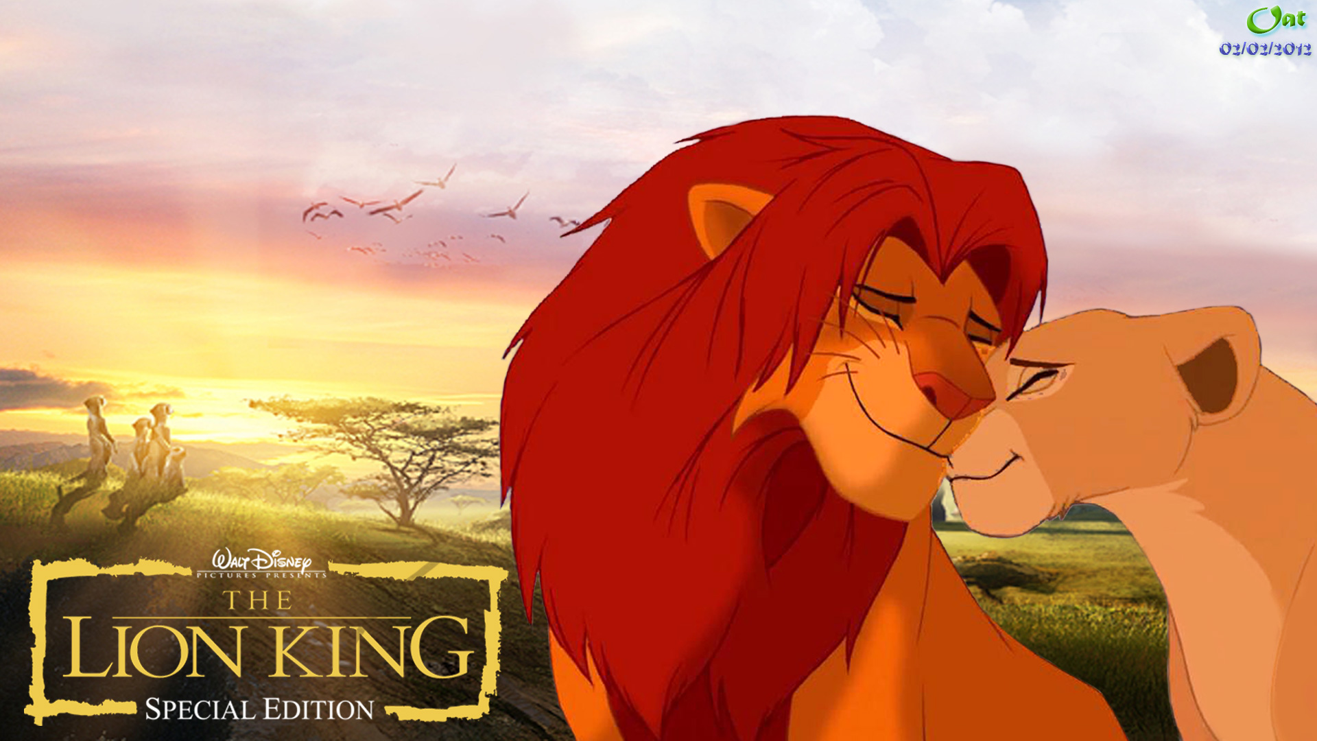 Lion King Couples Wallpaper Probably With Anime Called - Lion King Wallpaper Nala And Simba , HD Wallpaper & Backgrounds