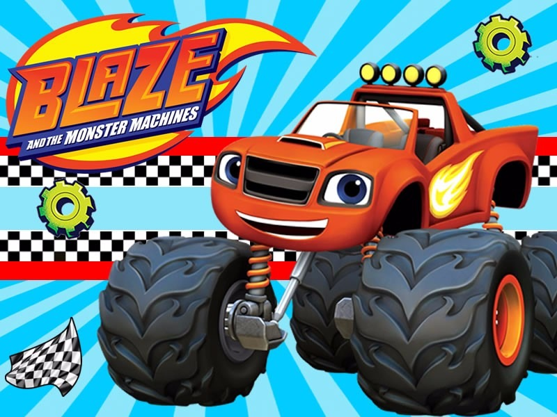Kit Imprimible Blaze And The Monster Machines Cumples Blaze Y